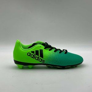 Adidas Boys Football Cleats Green Sneakers Sz 3.5